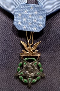 Medal of Honor bestowed on Lindbergh for his accomplishment. Photo courtesy of Wiki Commons.